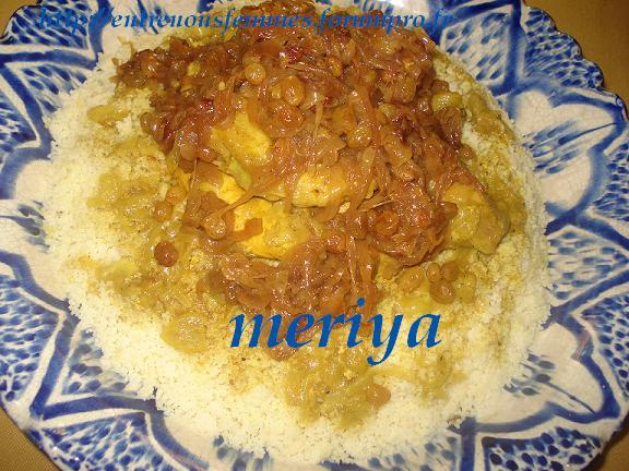 Ksskssou ou Couscous marocain au T'ffaya au poulet!! Dsc04010
