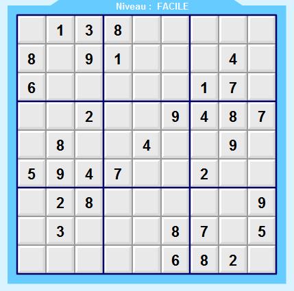 le  sudoku  est de retour  Sudoku15