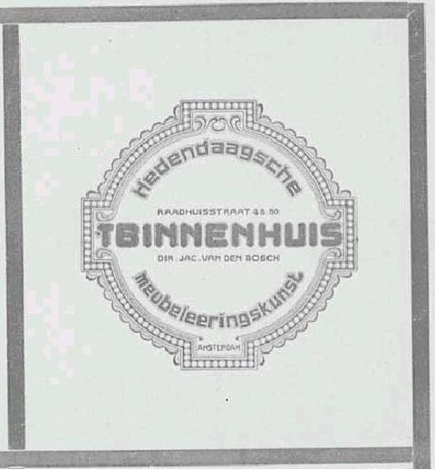 't Binnenhuis - Amsterdam 1900 - 1929 Tbh0010
