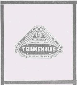 't Binnenhuis - Amsterdam 1900 - 1929 Tbh0110