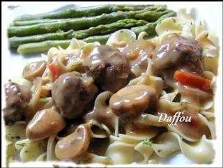 Boulettes de boeuf sauce aux champignons  Boulet10