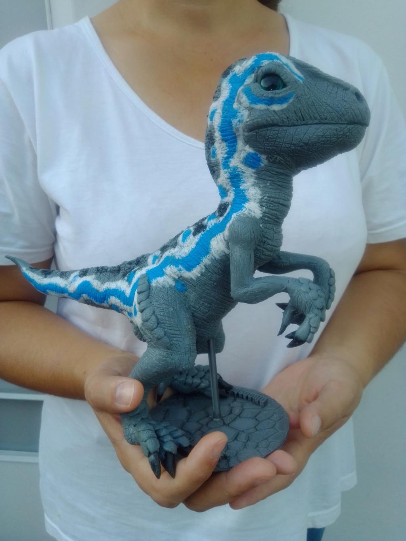 "Velociraptor ""BLUE"" de silicona Blue_210"
