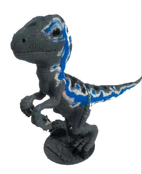 "Velociraptor ""BLUE"" de silicona Blue_310"