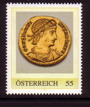 Nachtrag - Münzen auf Briefmarken Aureus10