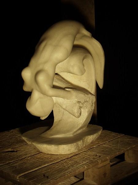 Gamin- Poisson en marbre :) P1020110