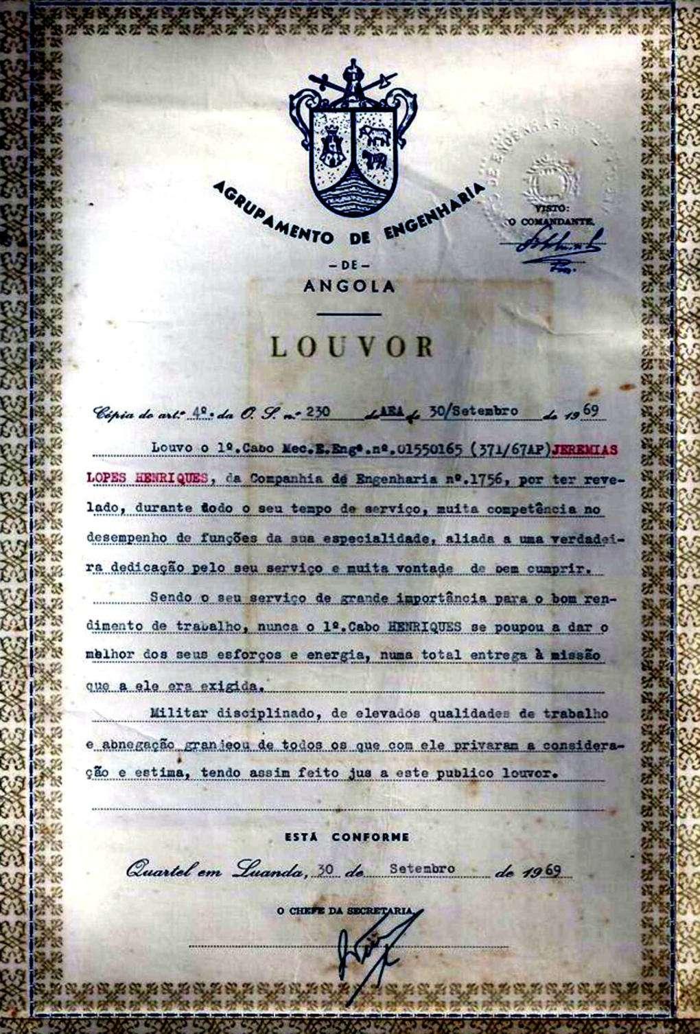 CEng1756: Máquinas, Trabalhos, Construção e Louvor (Angola 1967 a 1969) - Jeremias Henriques 05jere10