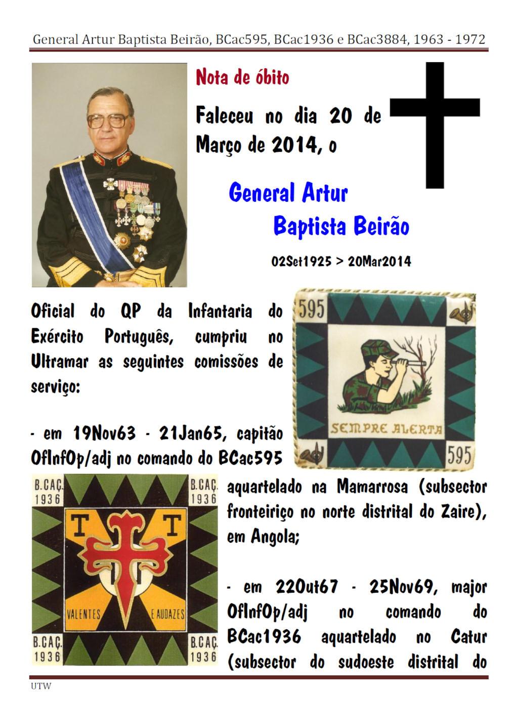 Faleceu o General Artur Baptista Beirão - BCac595, BCac1936, BCac3884 e 2ªRep/QG/CTIG - 20Mar2014 Artur_10