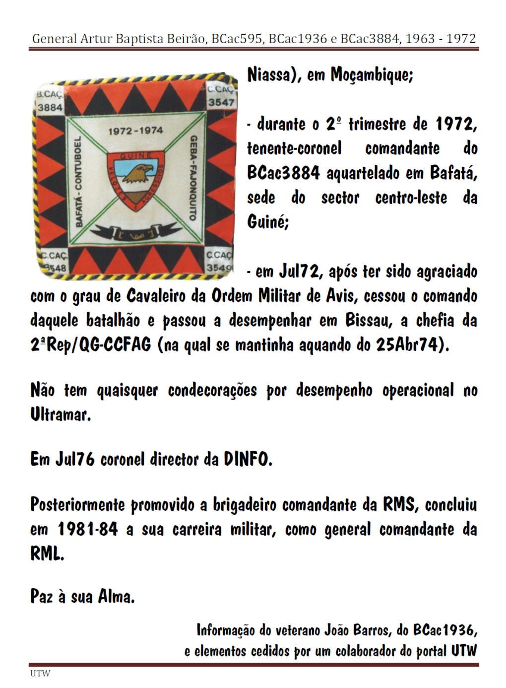 Faleceu o General Artur Baptista Beirão - BCac595, BCac1936, BCac3884 e 2ªRep/QG/CTIG - 20Mar2014 Artur_11