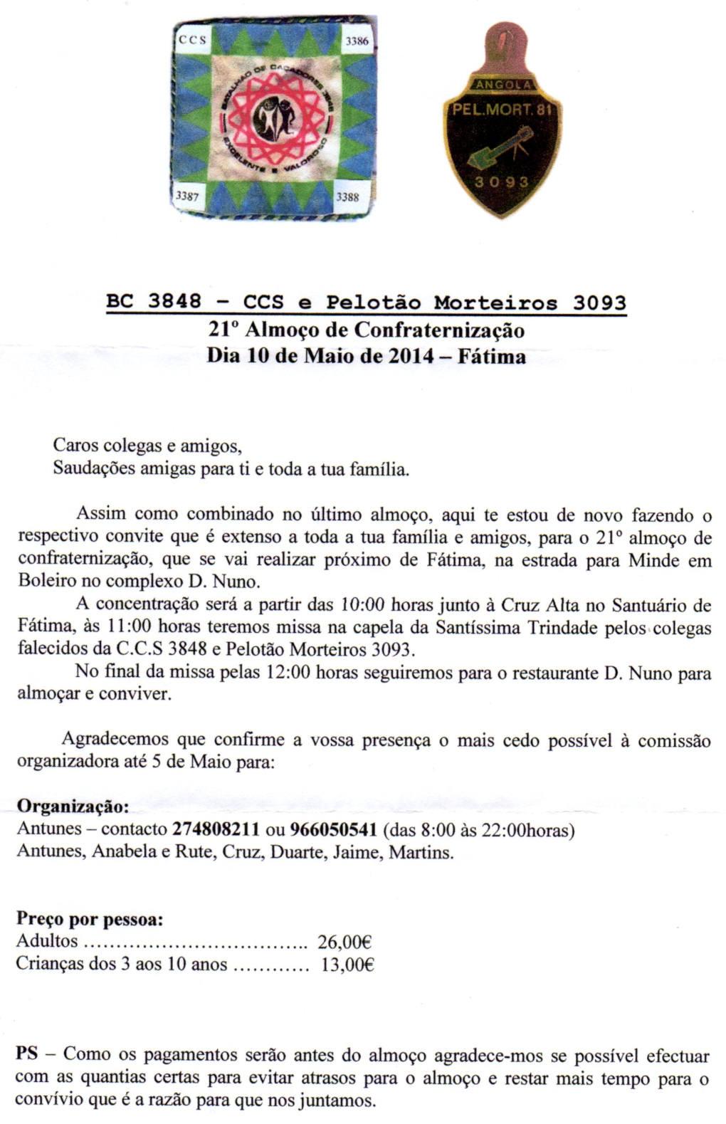 21.º Convívio da CCS/BCac3848 e PelMort3093 - Fátima - 10Mai2014 Bcac3810