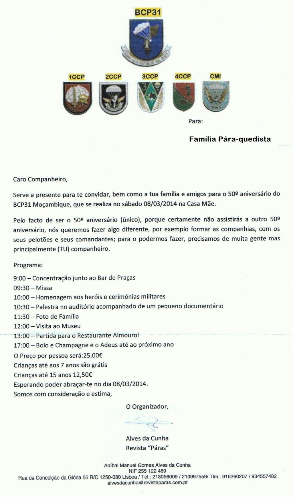 50.º Aniversário do Batalhão de Caçadores Pára-Quedistas 31 - Moçambique - 08Mar2014 Bcp3110