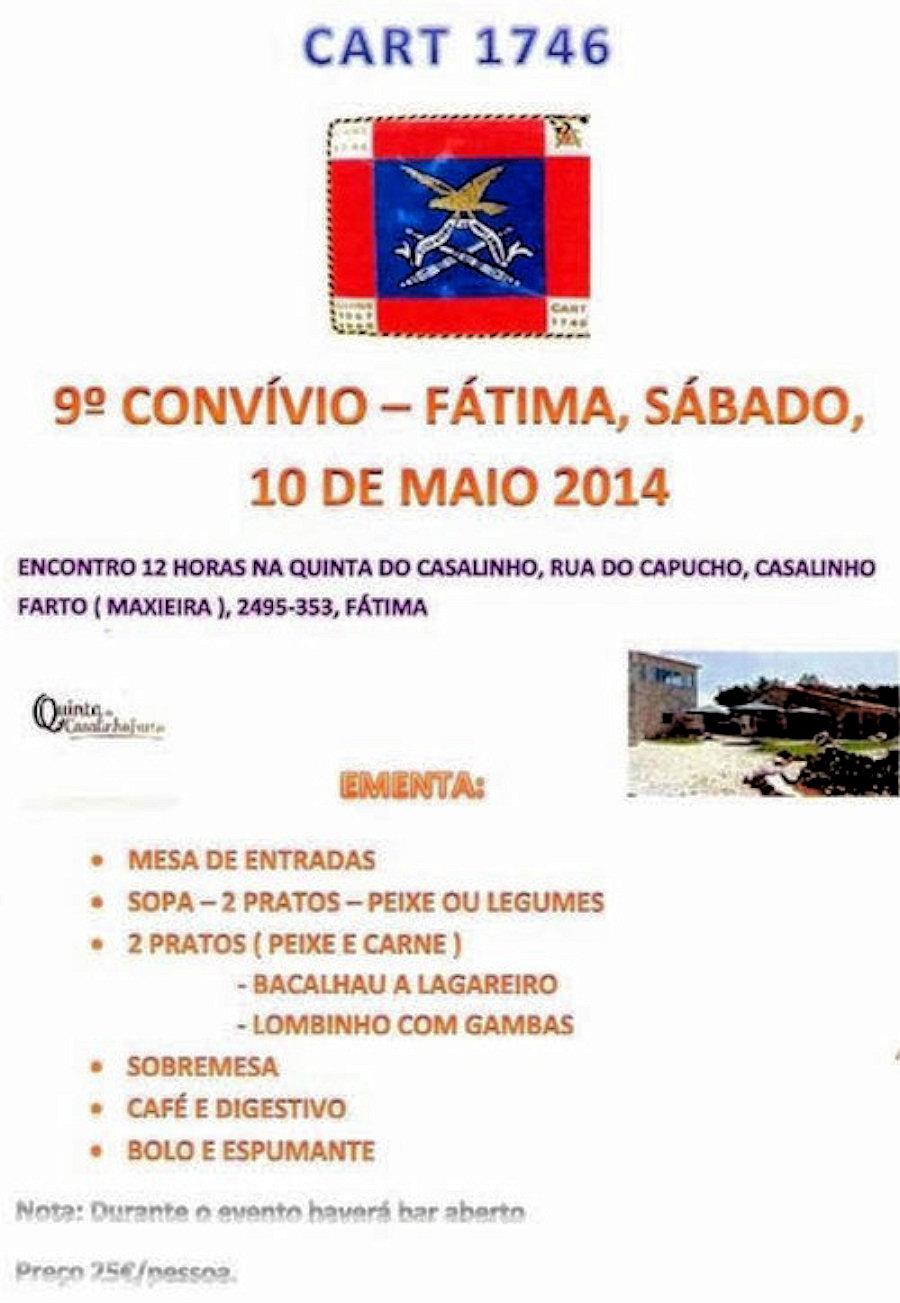 10Mai2014: 9.º Convívio da Companhia de Artilharia 1746  Cart1710