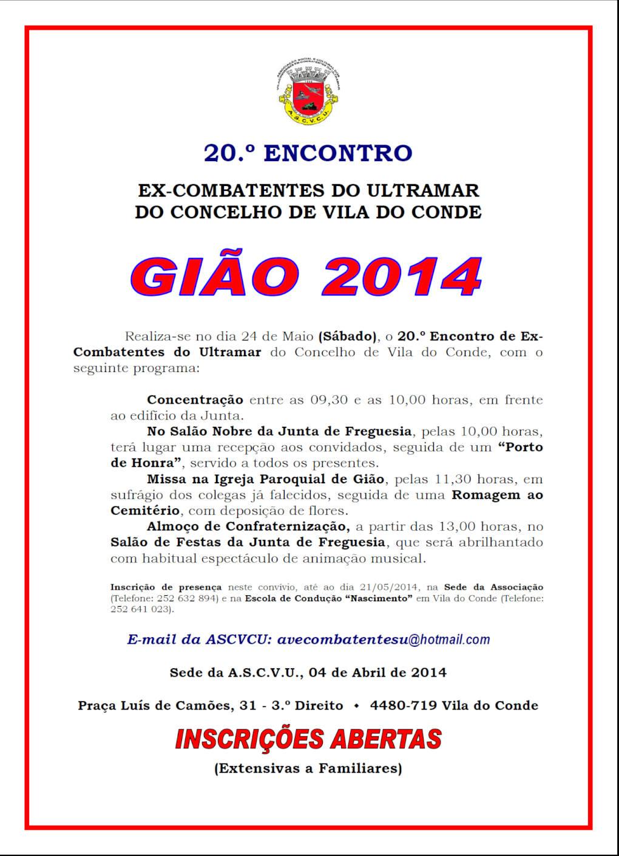 24Mai2014: 20.º Encontro dos Ex-Combatentes do Ultramar do Concelho de Vila do Conde Carta_10