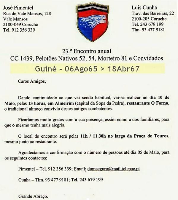 23.º Encontro Anual da CCac1439,PelCacN52 e 54, PelMort81(?) e Convidados 10Mai2014 Almeirim Ccac1413