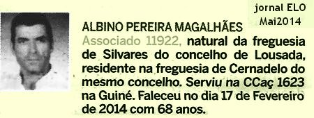 Notas de óbito - 8 veteranos da guerra do Ultramar, publicadas no jornal ELO, de Maio 2014, da ADFA Ccac1610