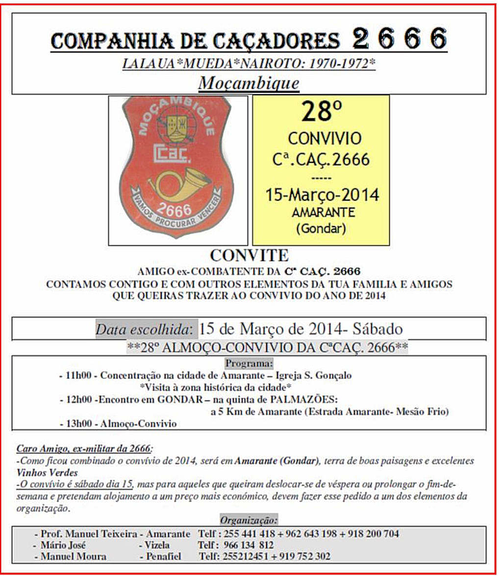15Mar2014: Almoço Convívio da CCac2666 Moçambique 1970 a 1972 Ccac2610