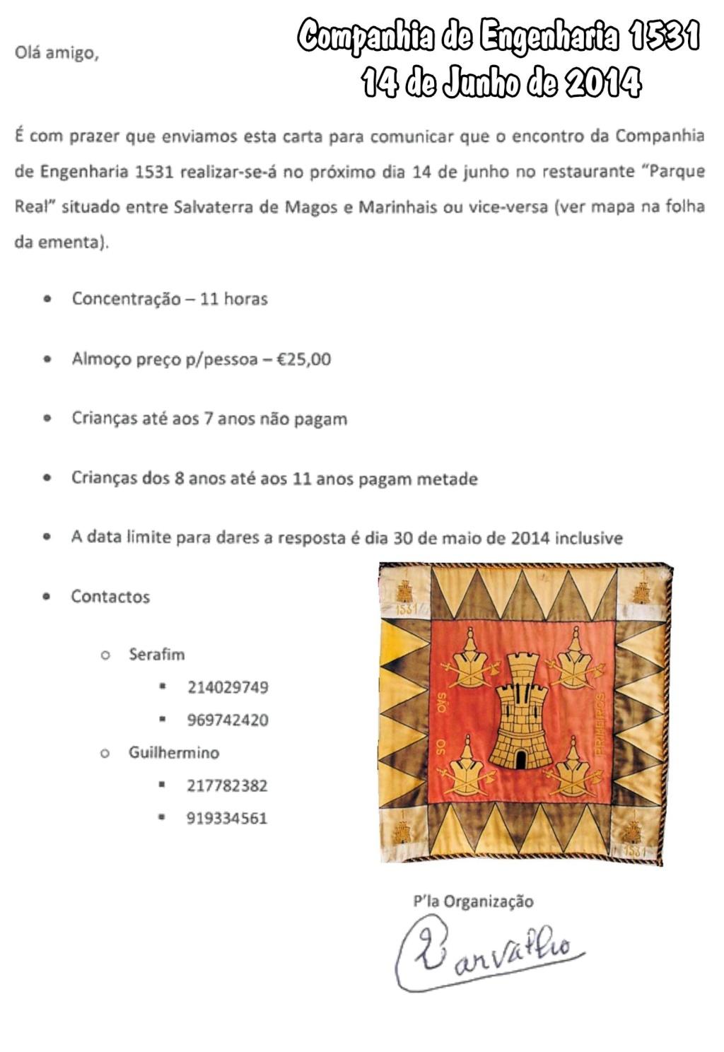Companhia de Engenharia 1531 Confraternização no dia 14Jun2014 Salvaterra de Magos > Marinhais Ceng1510
