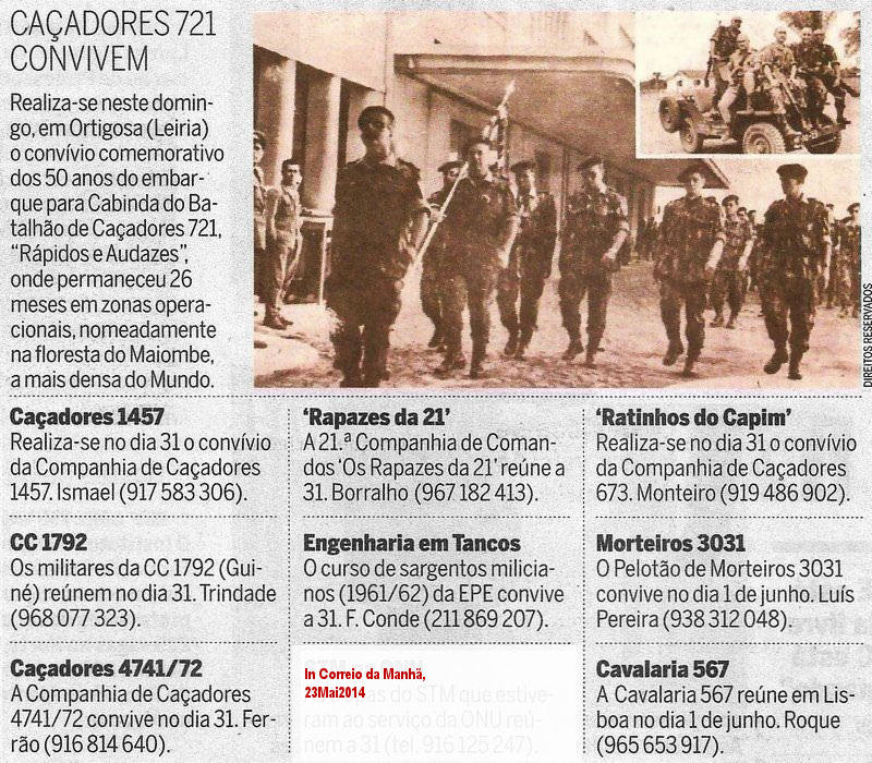 Encontros Convívios de ex-Militares Portugueses, in Correio da Manhã, de 23Mai2014 Conviv10
