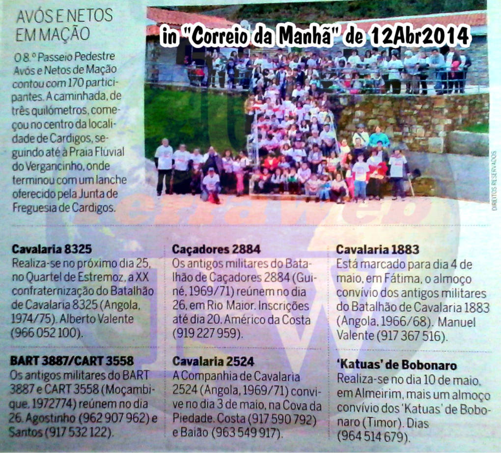 Encontros de ex-Militares que serviram o Estado Português no período da Guerra do Ultramar Correi11
