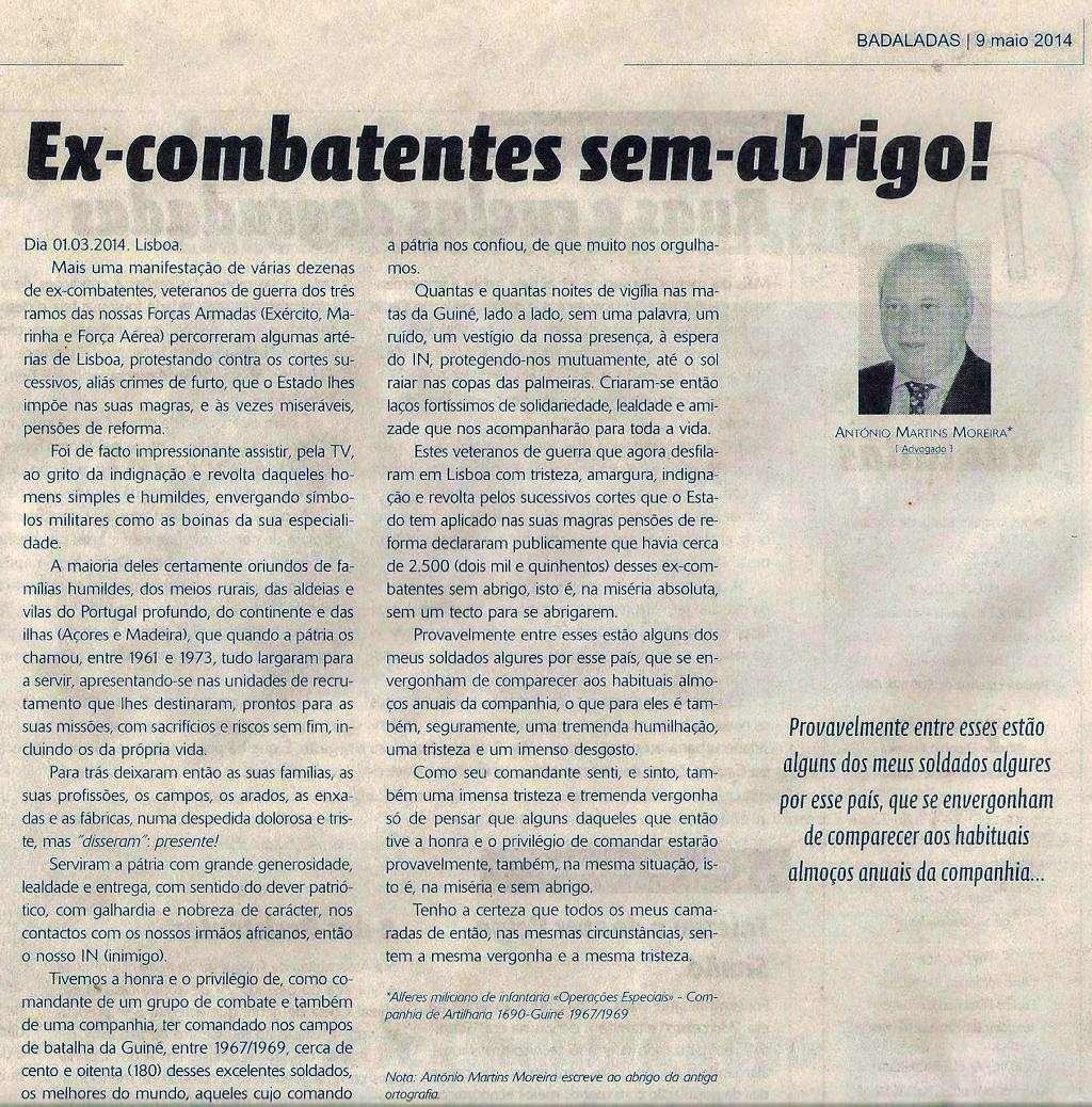«Ex-Combatentes sem-abrigo!» um artigo do Alferes Mil.º Moreira, da CArt1690 Ex_com10