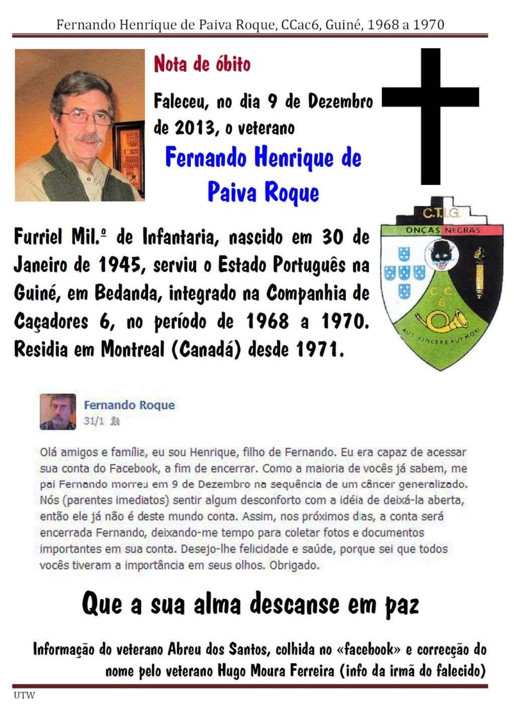 Faleceu o veterano Fernando Henrique de Paiva Roque, da CCac6 - 09Dez2013 Fernan11