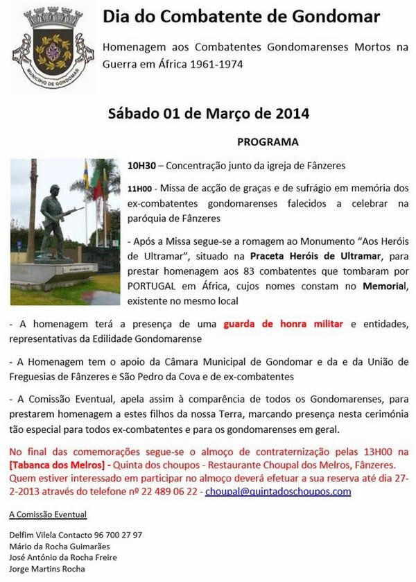 Dia do Combatente de Gondomar - Homenagem aos Combatentes Gondomarenses Mortos na Guerra de África Gondom10