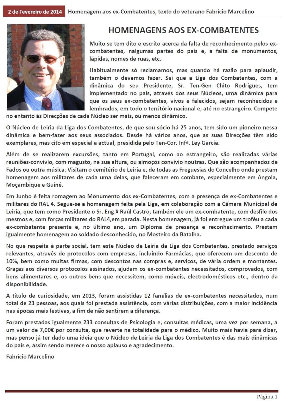Homenagens aos ex-Combatentes, texto de Fabrício Marcelino Homena10