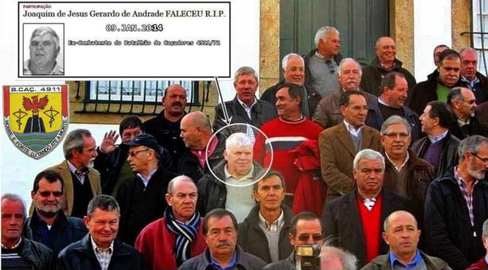 Faleceu o veterano Joaquim de Jesus Geraldo de Andrade da 1ªC/BCac4911/72 - 09Jan2014 Joaqui11