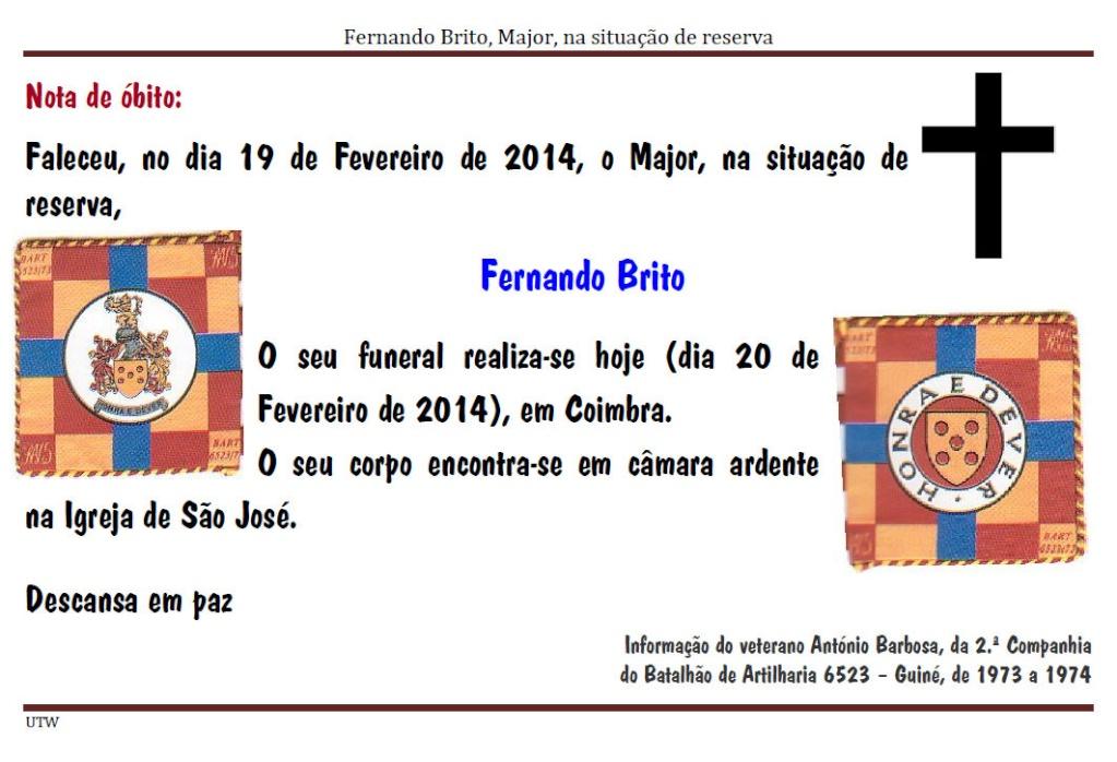Faleceu o Major Fernando Brito - 19Fev2014  Majorf11