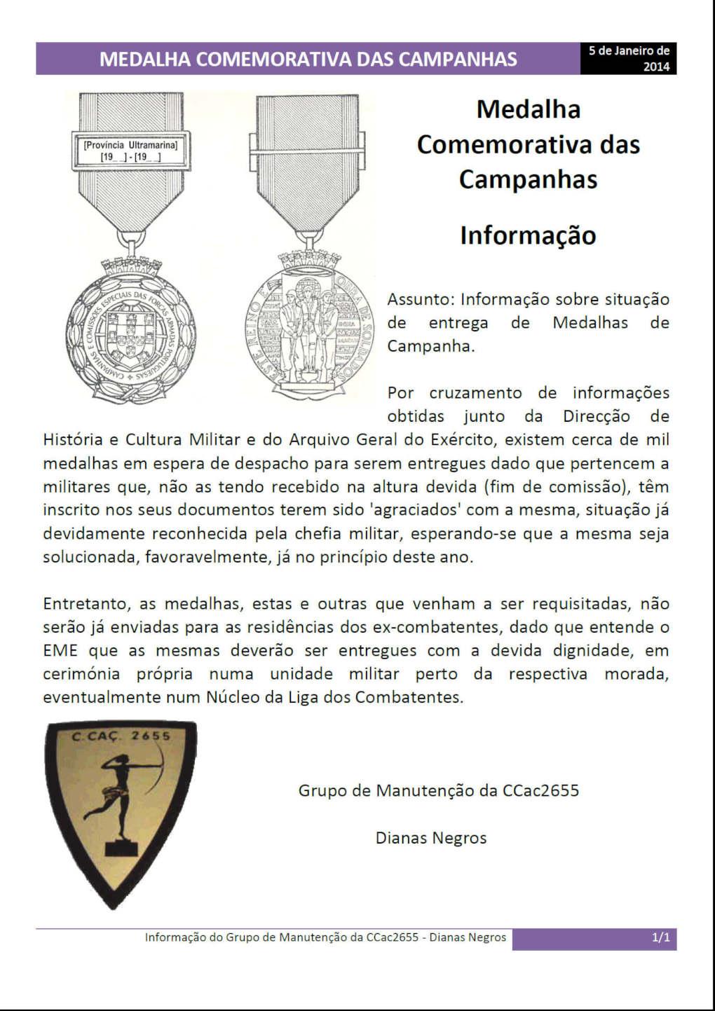 Medalha Comemorativa das Campanhas - Informação - 05Jan2014 Medalh10
