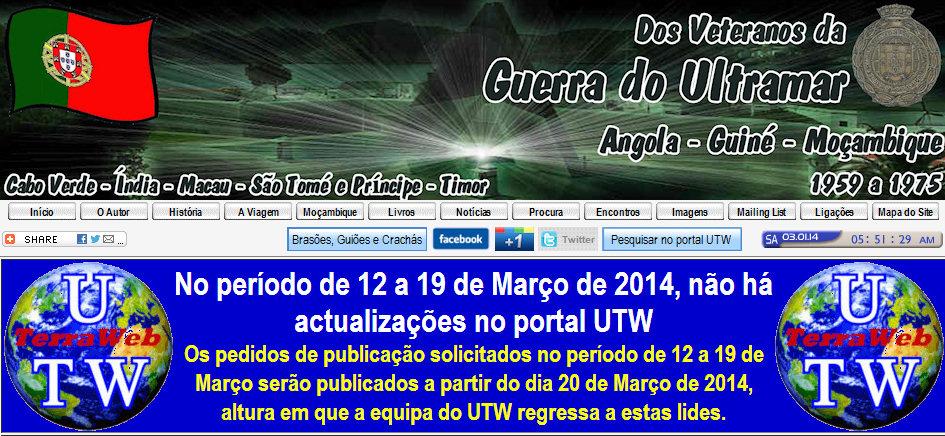 No período de 12 a 19 Março 2014, não há actualizações no portal UTW - http://ultramar.terraweb.biz Nao_ac10