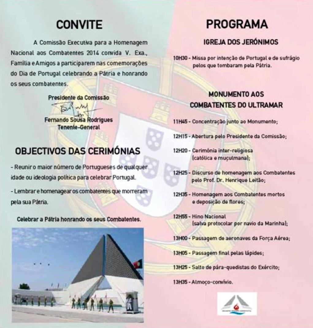 10Jun2014: XXI Encontro Nacional de Combatentes - Forte do Bom Sucesso - Lisboa Xxi_en11
