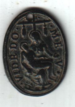 Médaille Vierge Marie recueillant le corps sans vie de son fils & Chemin de croix de Jésus - XVIIème A2511