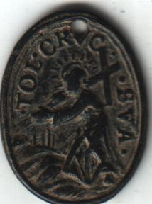 Médaille Vierge Marie recueillant le corps sans vie de son fils & Chemin de croix de Jésus - XVIIème A2611