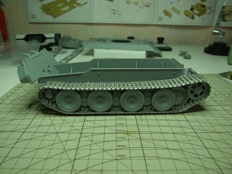 panzer - BergePanther + Tourelle Panzer IV ausf H Dscf5021