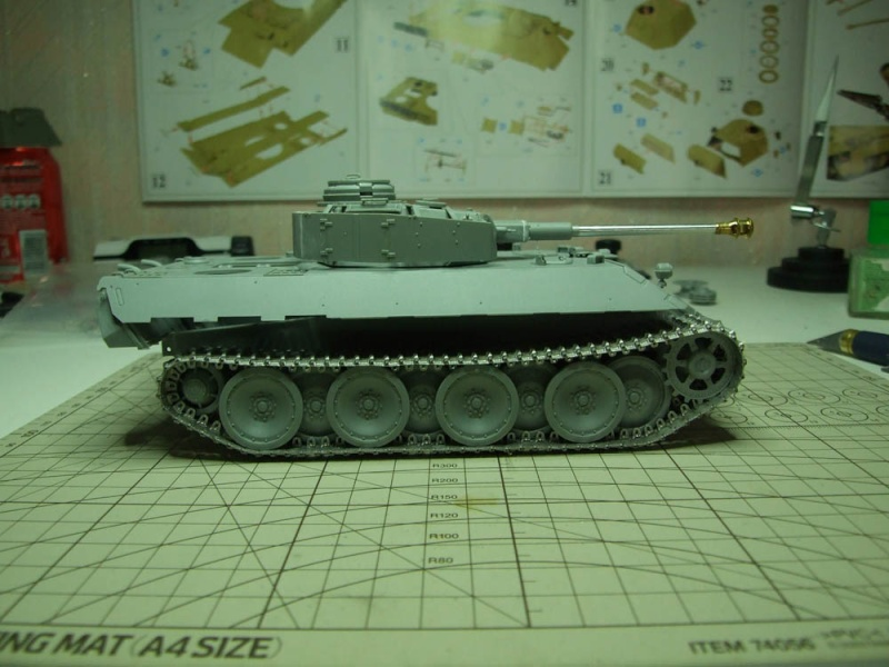 panzer - BergePanther + Tourelle Panzer IV ausf H Dscf5022