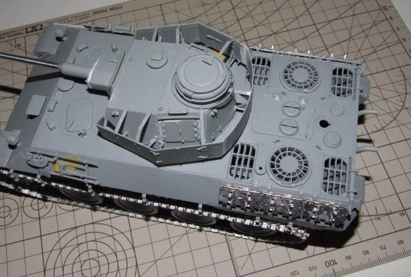 panzer - BergePanther + Tourelle Panzer IV ausf H Dscf5029