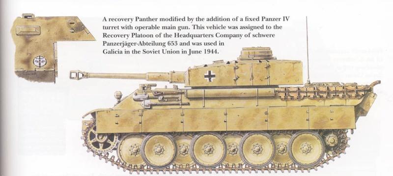 panzer - BergePanther + Tourelle Panzer IV ausf H Sans_t10