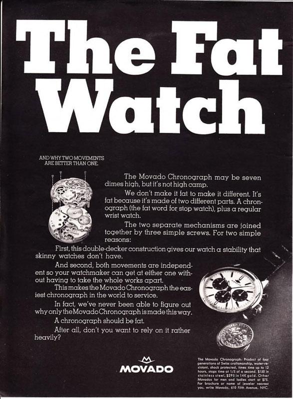 """Ma Movado M95 """"Fat Watch"""" Pubm9510"""