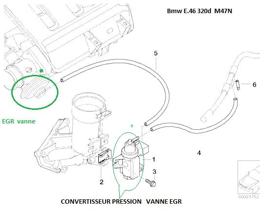 bmw e46 320d m47n an 2002   probleme fum u00e9e blanche a