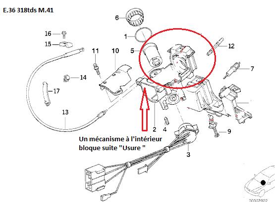 [ BMW E36 318 tds an 1996 ] clé ne tourne plus dans le neiman et Volant bloqué 32_mac10