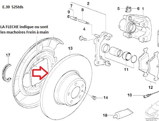 [ BMW E39 525 TDS an 1996 ] Levier de frein à main ne fonctionne plus 34_dis10