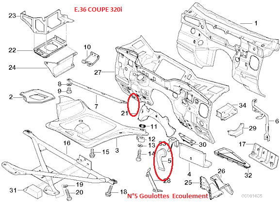 bmw e36 320i coup u00e9 an 1997   fuite ldr par tuyau d