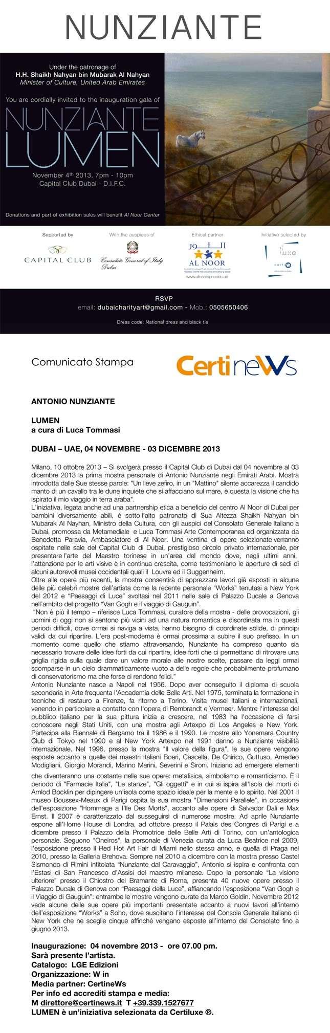 NUNZIANTE al Capital Club DUBAI, 4 Novembre-4 Dicembre 2013 - Pagina 4 29101310