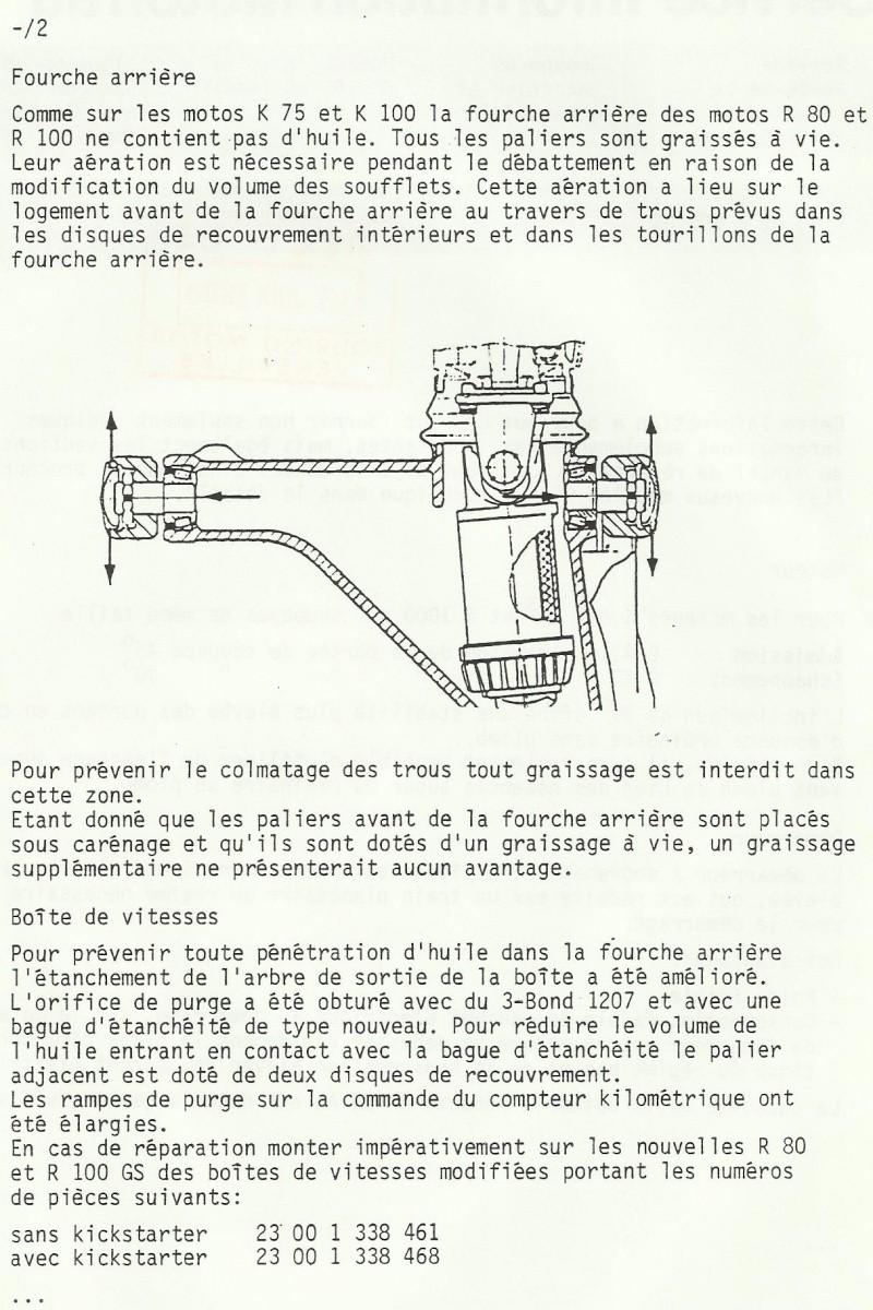 Spécificité des transmissions du type Paralever,ce qu'il ne faut pas faire ! Gs198810