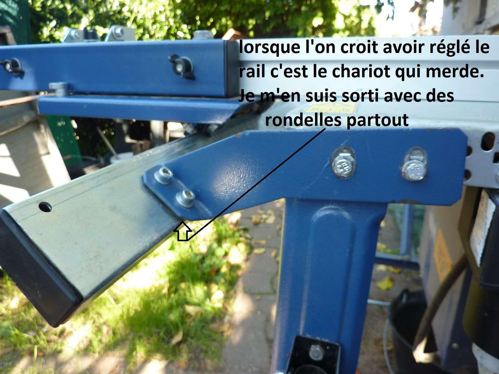 Photos detaillées du bras articulé/chariot/guide parallèle de ma scie circulaire kity 415 5_1_fi10