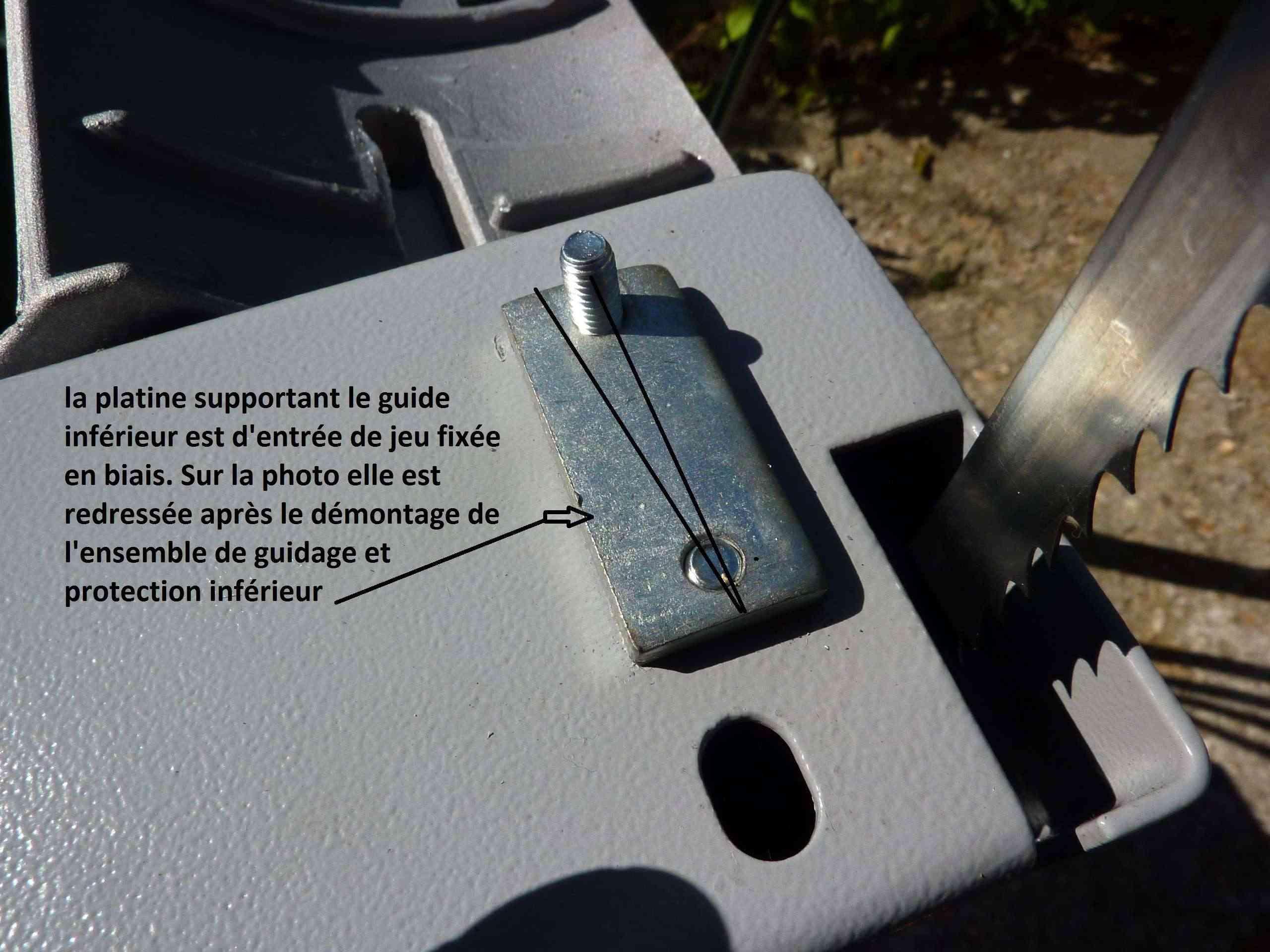 MA présentation de la scie à ruban Peugeot Energy band 160 à 279€ 6_plat10