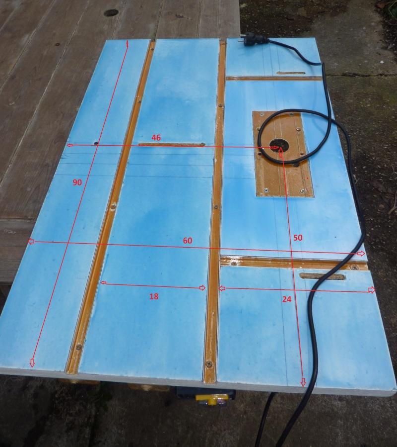 ma table de fraisage complète, résinée et électrifiée Platea10