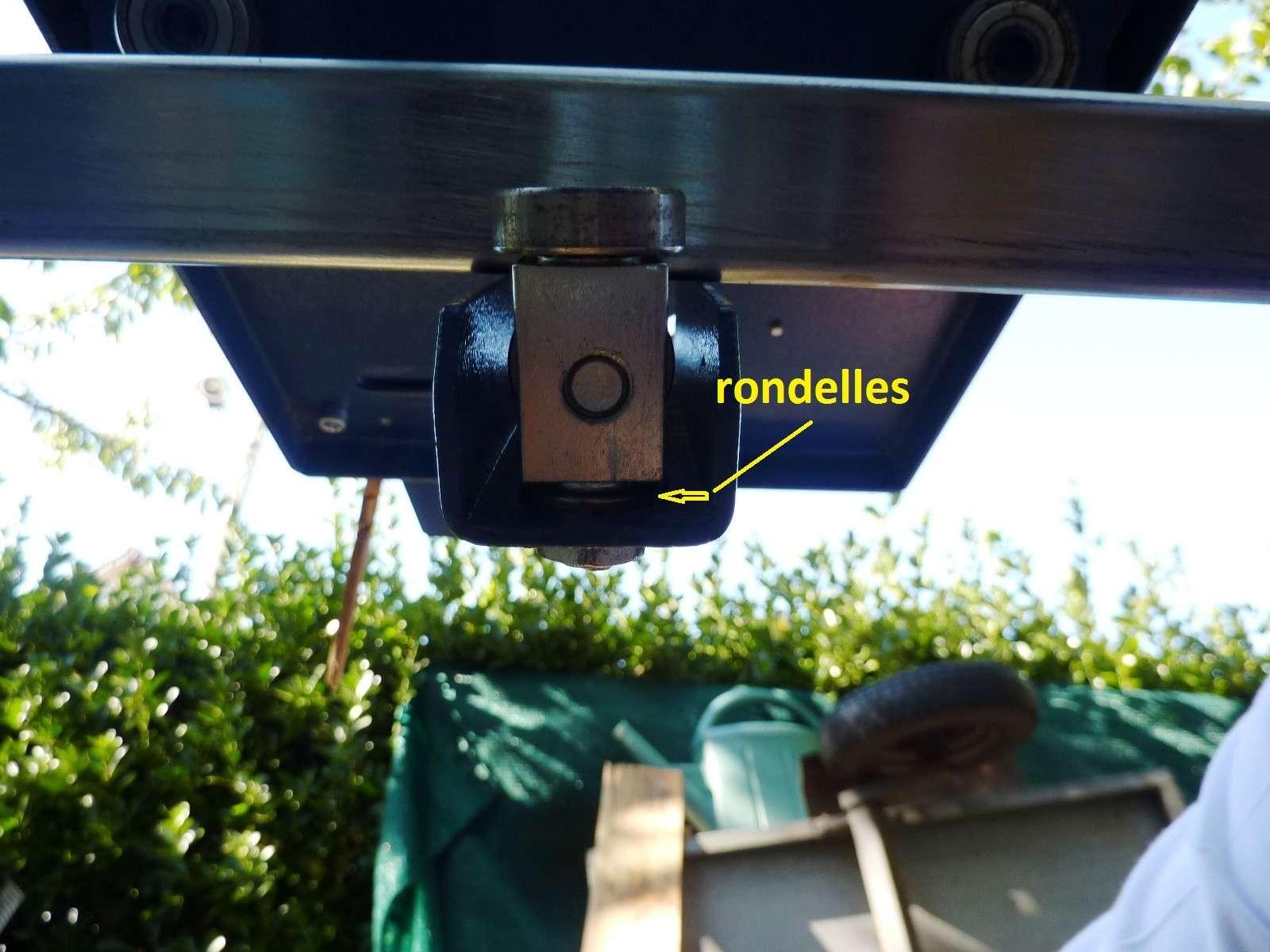 Photos detaillées du bras articulé/chariot/guide parallèle de ma scie circulaire kity 415 Roulem10