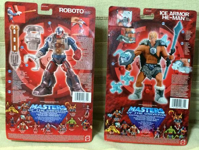 Masters Of The Universe x200 He Man Ice Armor e Roboto Fondi di magazzino 10173710