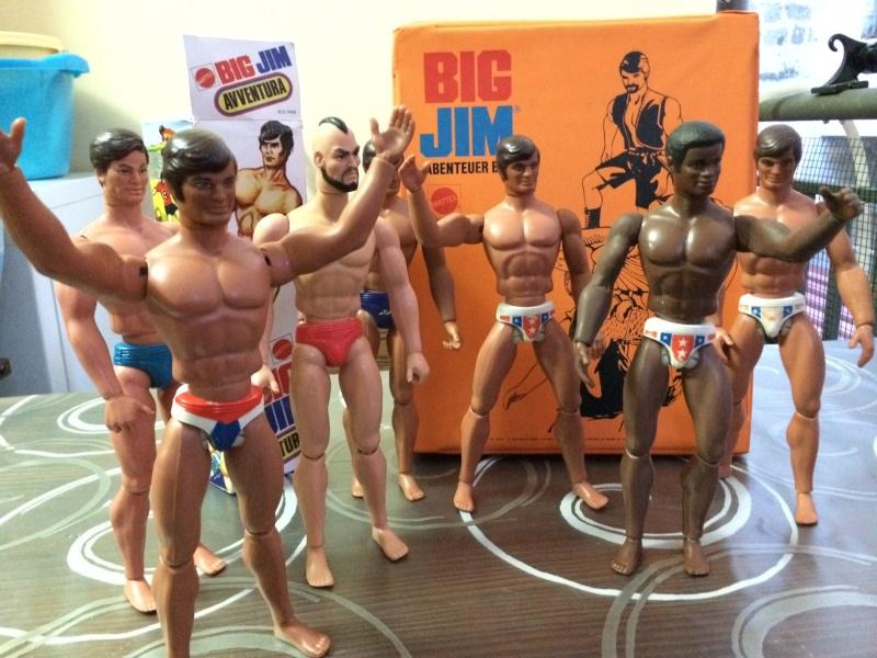BIG JIM Mattel lotto di 7 personaggi più valigetta anni 70 , regalo Box   Foto_122